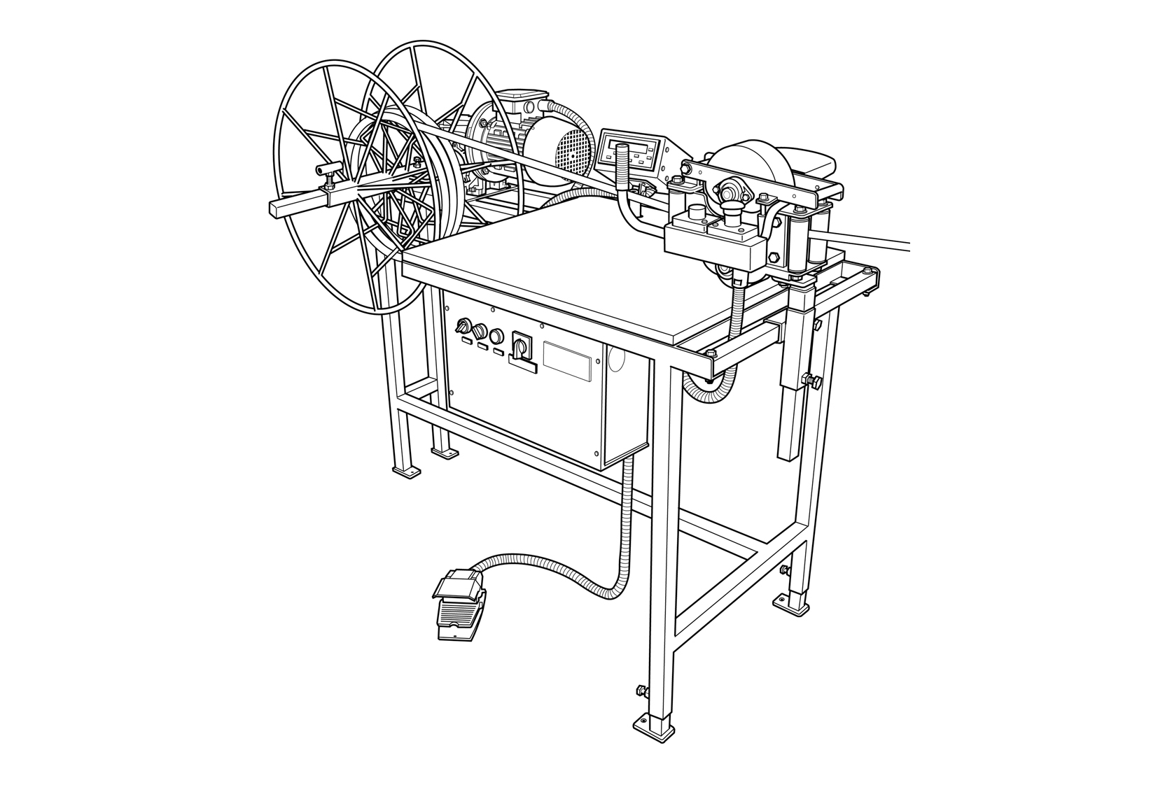 benchtop winding  coiling machine-ac inverter